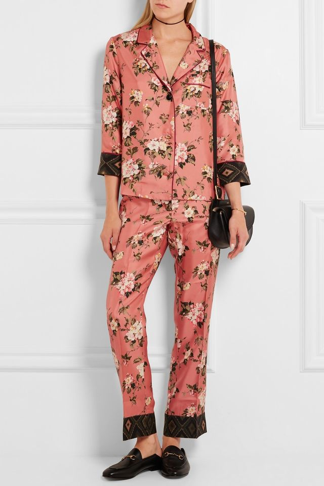 F.R.S For Restless Sleepers Floral Silk Blouse