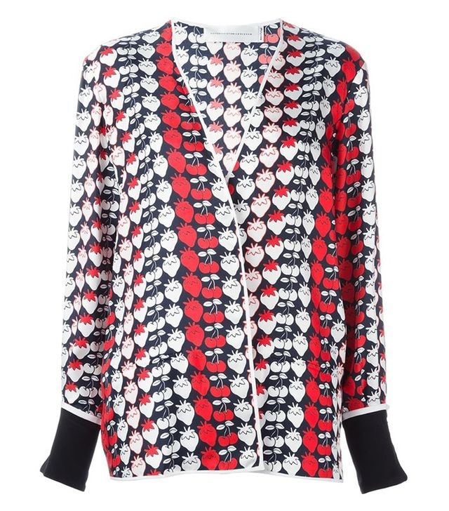 Victoria Victoria Beckham Strawberry Print Pajama Jacket