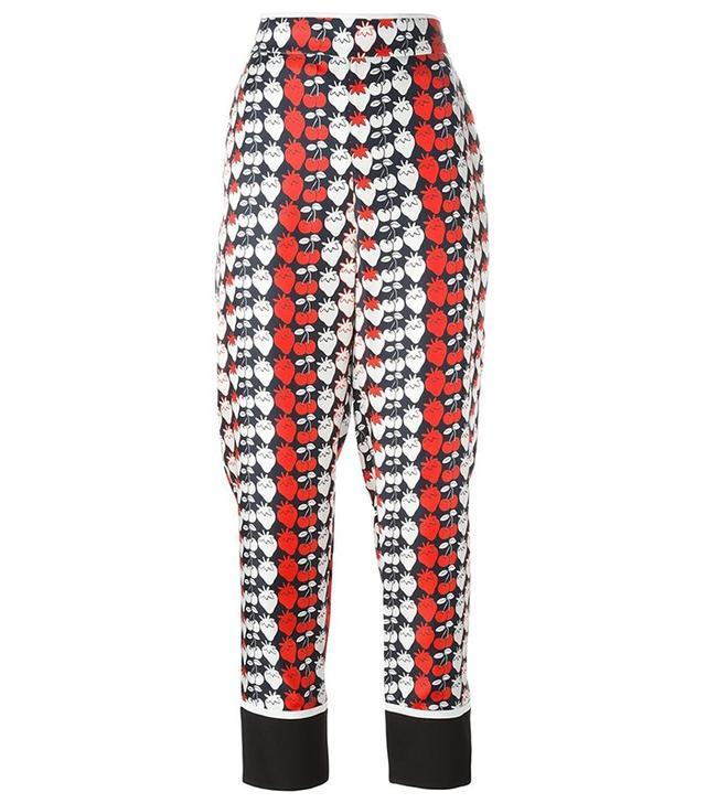 Victoria Victoria Beckham Strawberry Print Pajama Pants