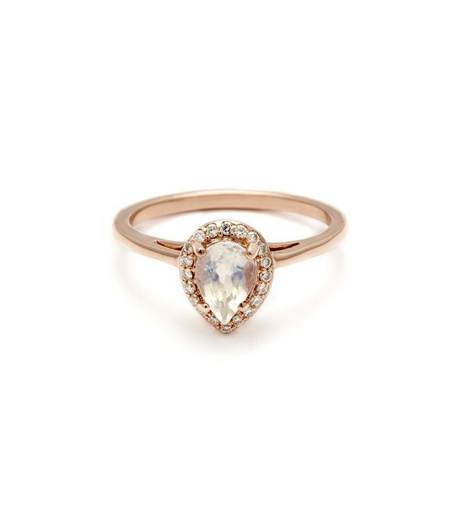 Anna Sheffiled Pear Rosette Ring