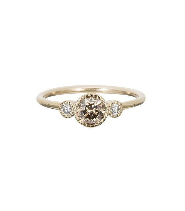 Jennie Kwon Champagne Diamond Round Ring