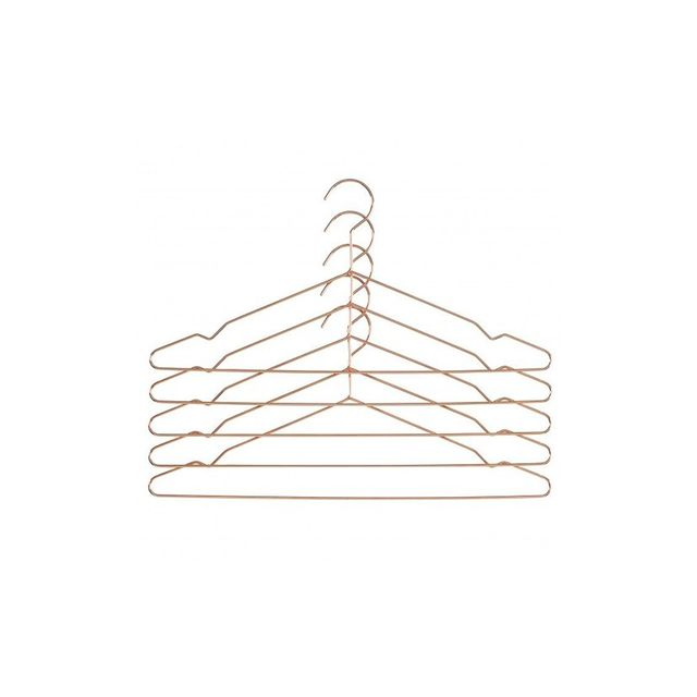 Hay Hang Coat Hanger Set of 5 Black or Copper