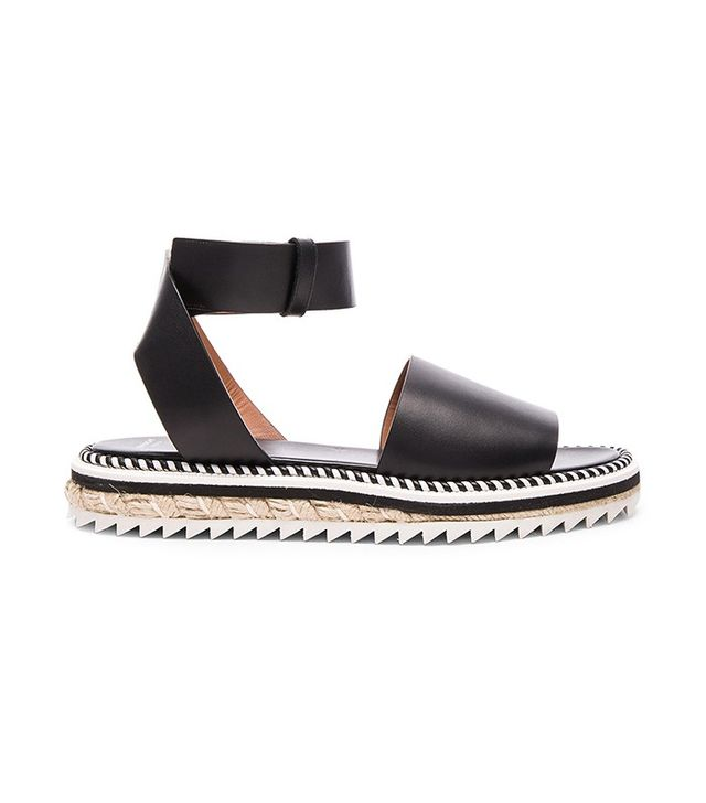 Givenchy Leather Rodha Flat Sandals
