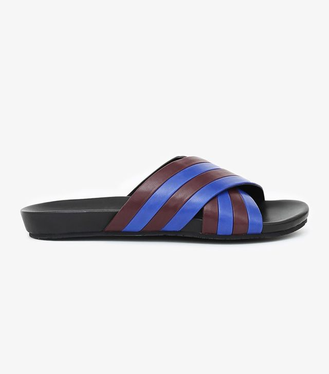Opening Ceremony Jourdena Leather Criss-Cross Pool Slides