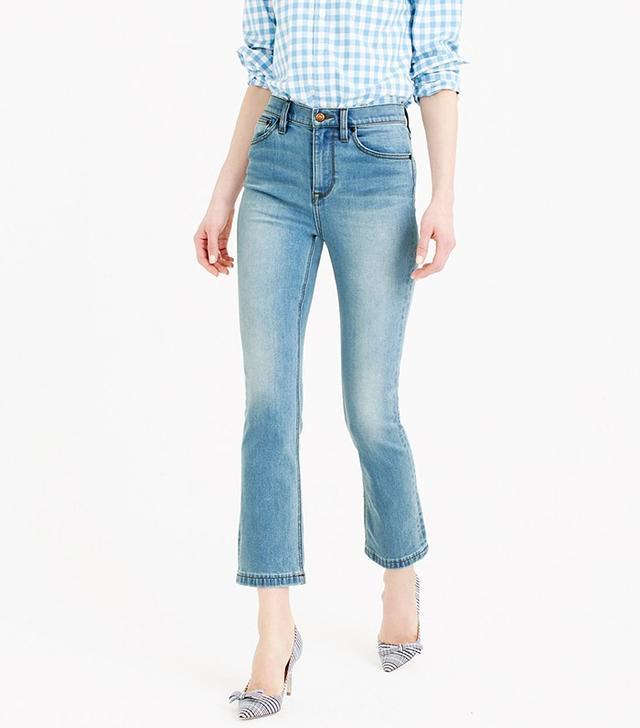 J.Crew Billie Demin Boot Crop Jeans
