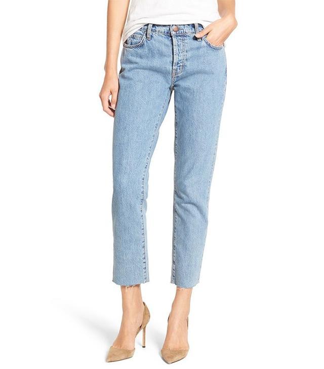 Current/Elliot The Original Crop Straight Prep Jeans