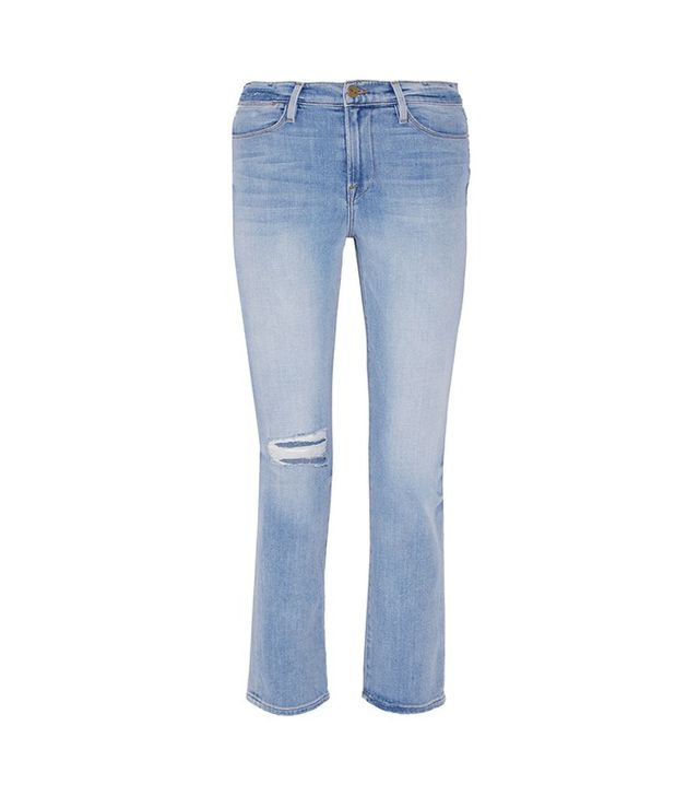 Frame Le High Distressed Straight Leg Jeans