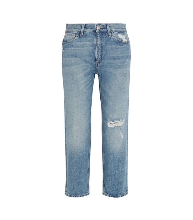 M.i.h. Jeans Jeanne Cropped Distressed Straight-Leg Jeans