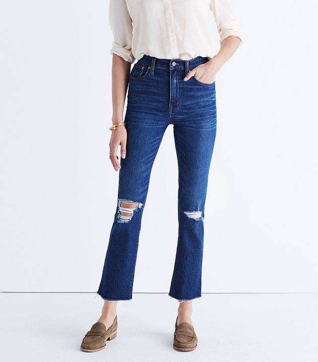 Madewell Los Feliz Crop Flare Jeans in Collin Wash