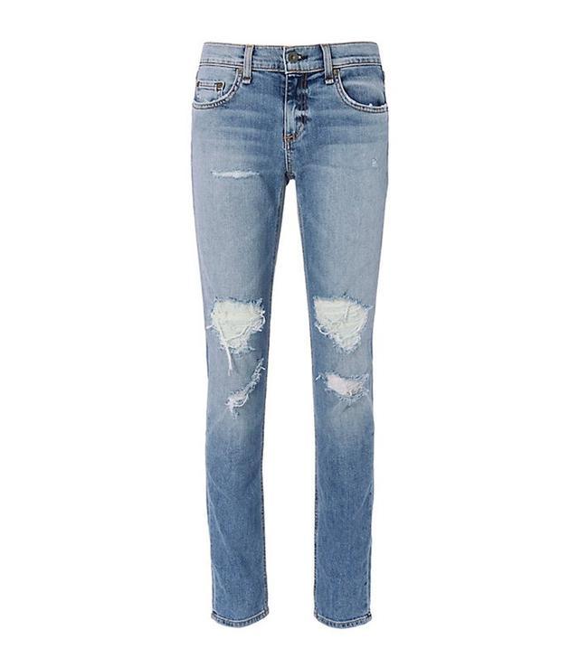 Rag & Bone Dre Carter Rip Slip Fit BF Jeans