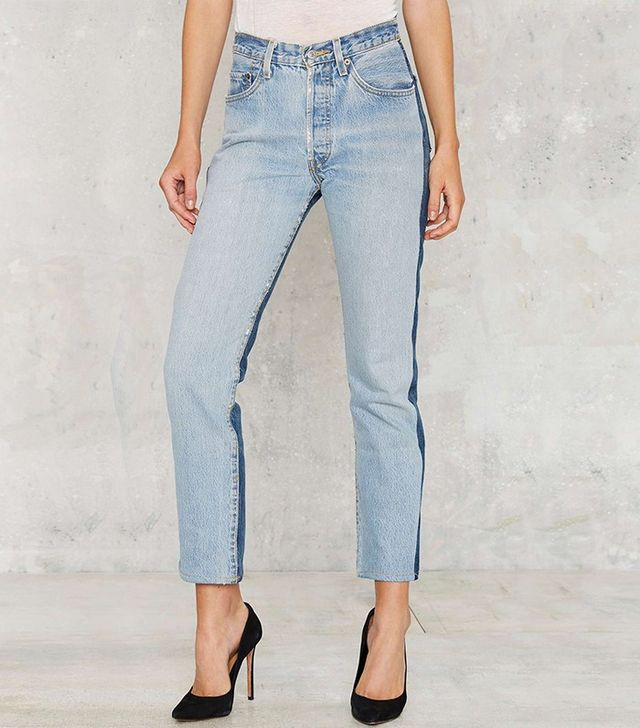 Nasty Gal After Party Vintage Levi's 501 Reverse Tonal