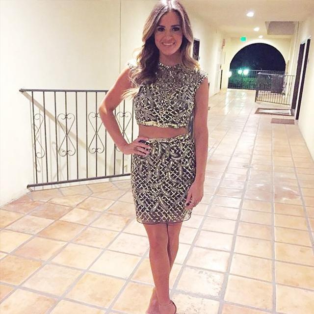 On JoJo Fletcher: Mac Duggal Homecoming 420N Sequin Dress ($398).