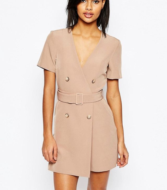 ASOS Short Sleeved Double Breasted Romper