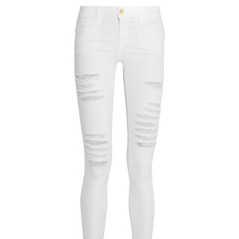 Le Skinny De Jeanne Distressed Mid-Rised Jeans