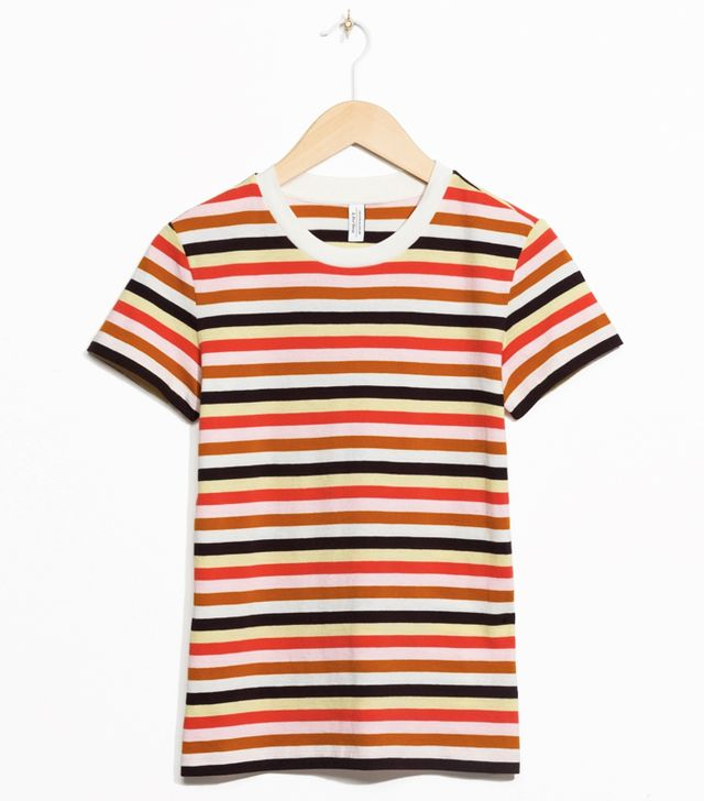 & Other Stories Striped Organic Cotton Tee