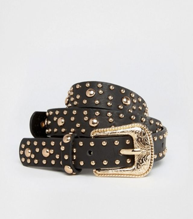 ASOS Studded Double Buckle Western Waist and Hip Belt