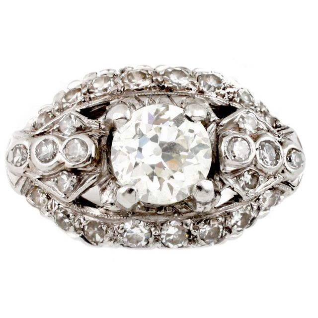 Vintage Diamond Empire Ring