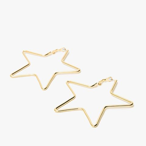 Large Star Earrings in Gold