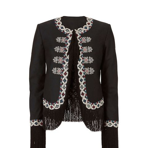 Zoe Diamond Embroidery Jacket