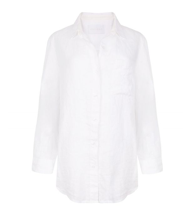 How to wear a white shirt: Asceno linen shirt