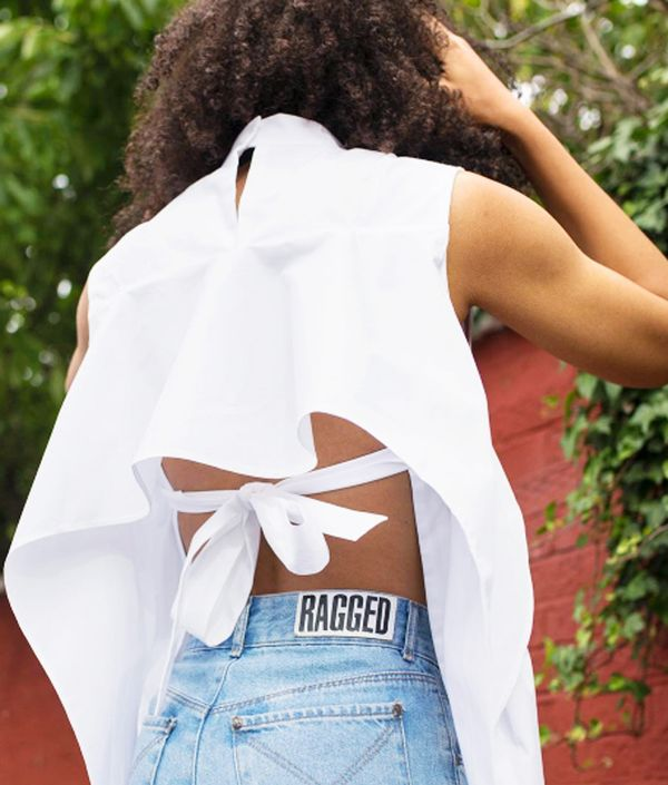 Style Notes: If you're looking for a statement shirt, ASOS Lesley shows that the coolest twist on the classic white shirt this summer is one with an open back, which looks amazing with a pair of...