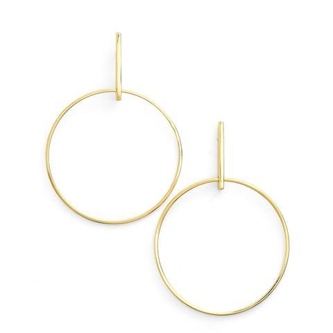 Bar Hoop Earrings