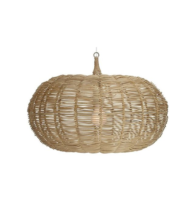 hanging wicker light