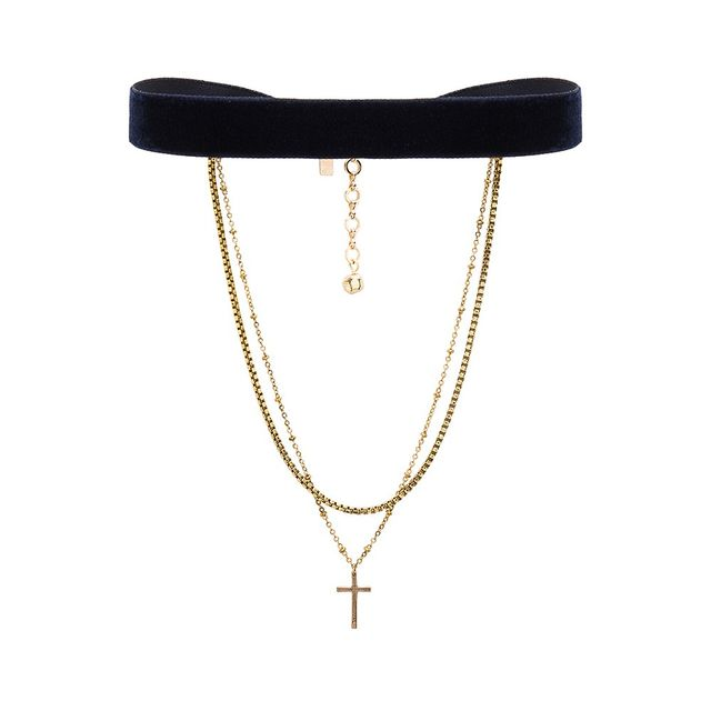 Vanessa Mooney Chain & Cross Choker