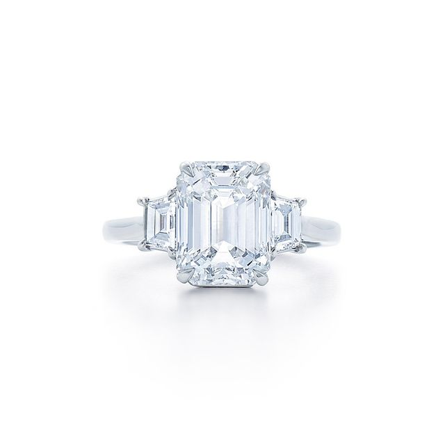 Kwiat Emerald Cut Diamond Engagement Ring