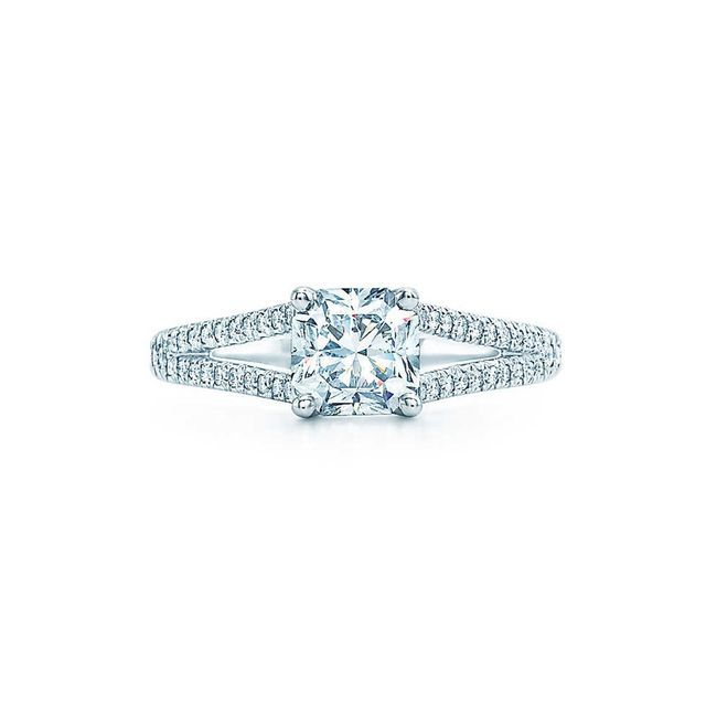 Tiffany & Co. Lucida With Diamond Bad Ring