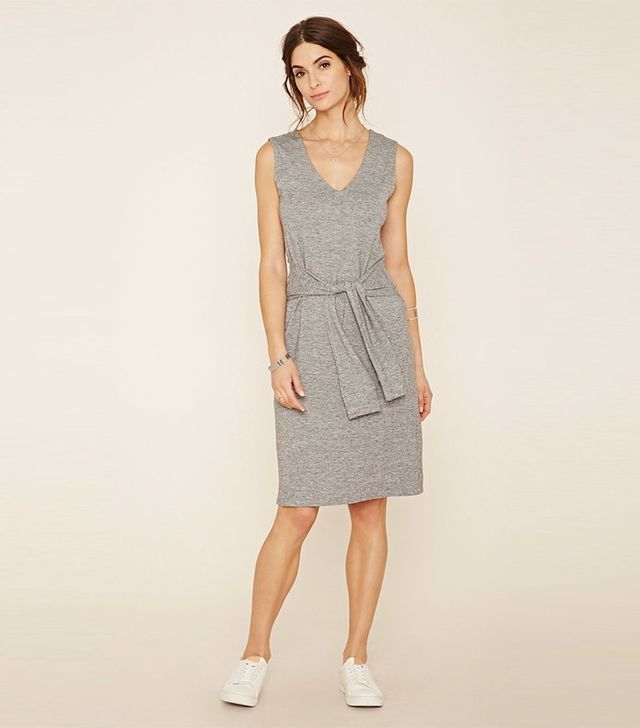 Forever 21 Contemporary Tie-Waist Marled Dress