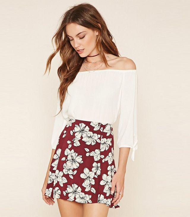 Forever 21 Contemporary Floral Skirt