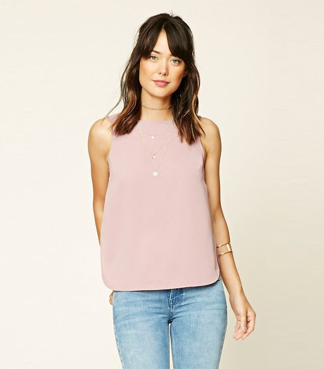 Forever 21 Contemporary Dolphin Hem Top