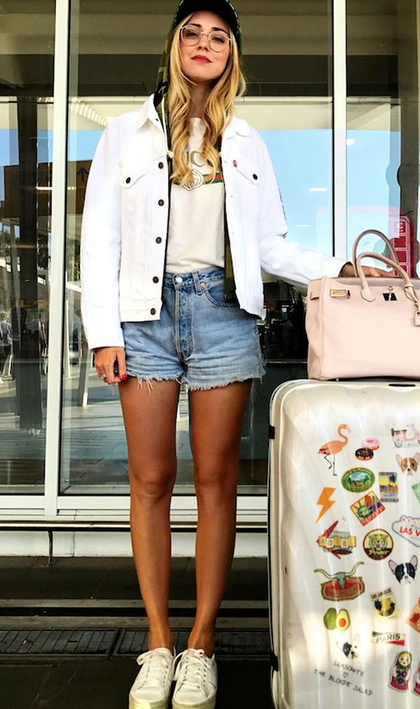 chiara ferragni airport outfit