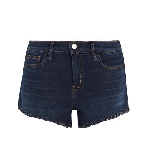 Zoe Frayed Denim Shorts