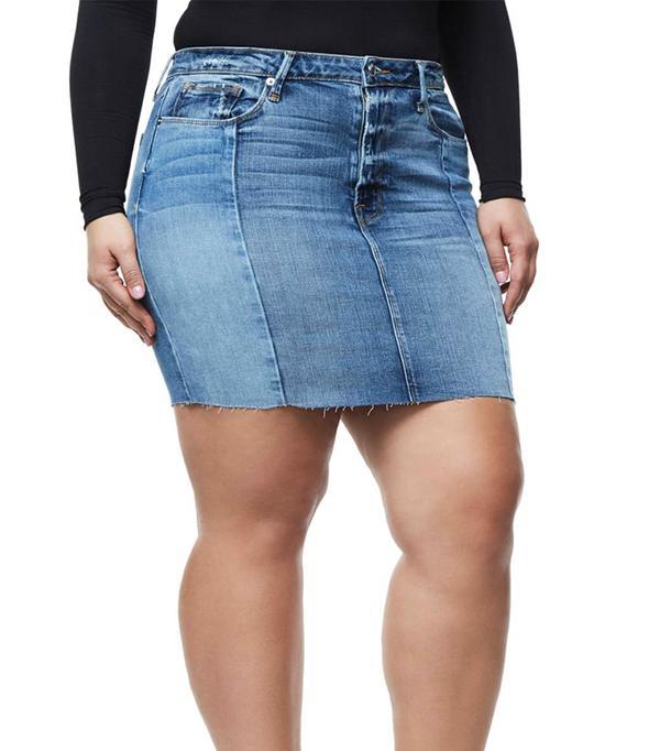 Women's Good American Patchwork Miniskirt