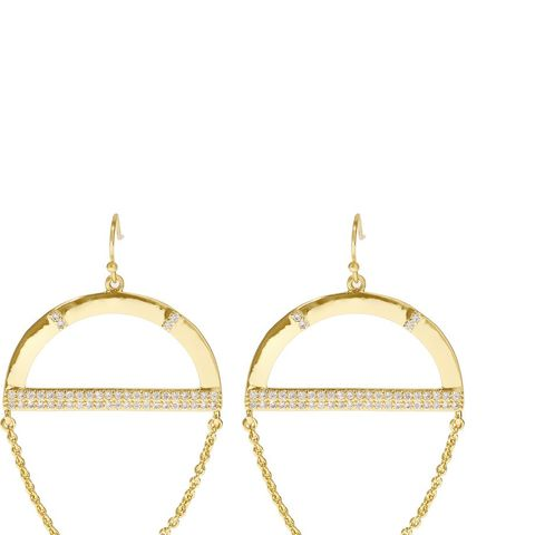 Crystal-Embellished Gold Plated Earrings