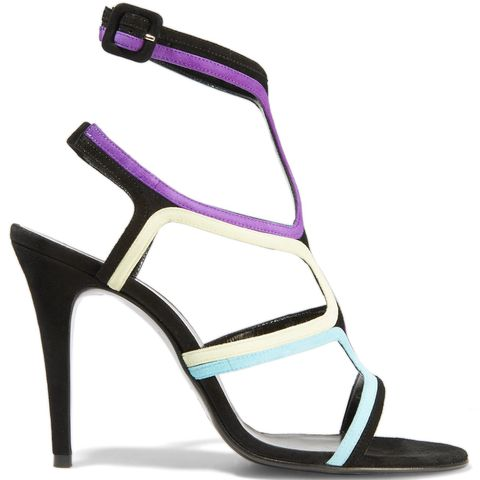 Colour Block Suede Sandals