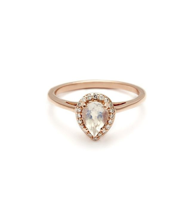 Anna Sheffiled Pear Rosette Ring