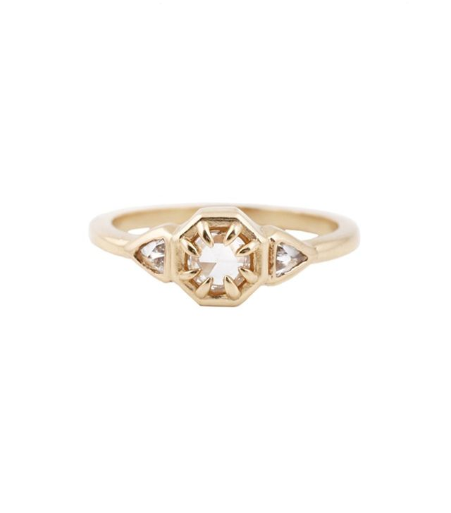 Lauren Wolf Three Diamond RIng
