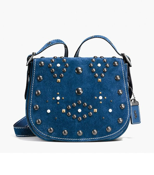 Coach Western Rivets Saddle Bag 23