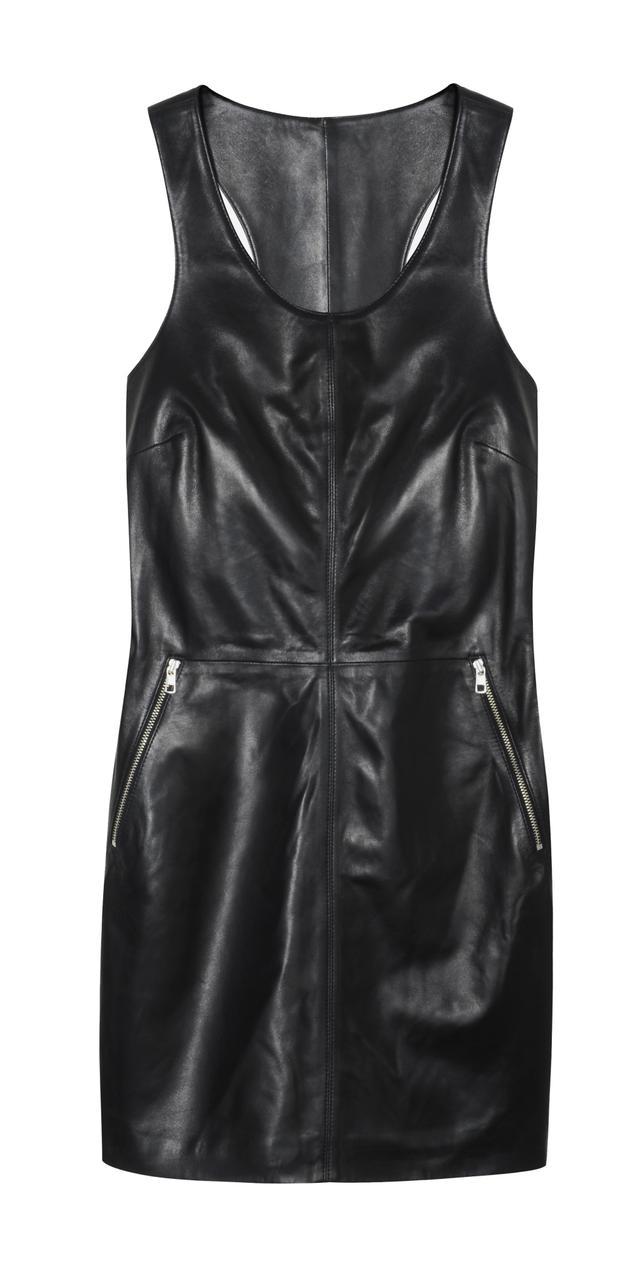 Calvin Klein Jeans Race Zip Leather Mini Dress