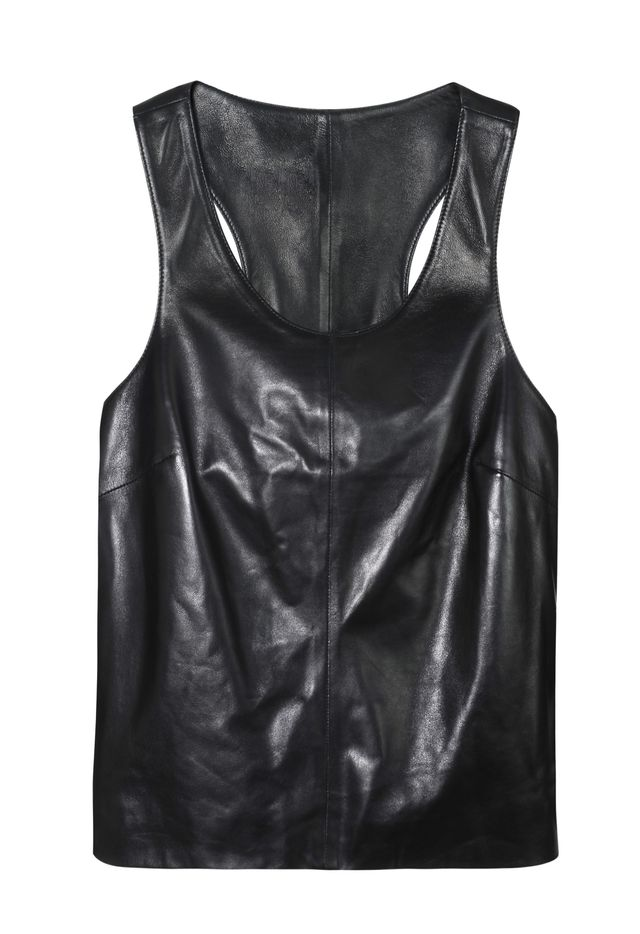 Calvin Klein Jeans Racer Leather Tank Top