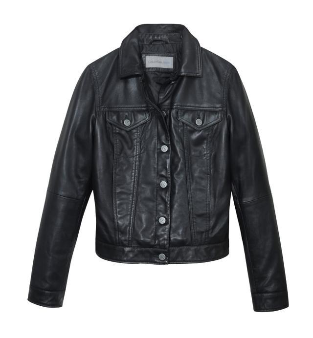 Calvin Klein Jeans Slim Trucker Leather jacket