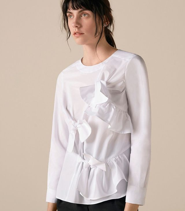 Finery London Hooper Bow-Front Blouse