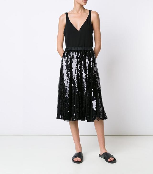 Tibi Éclair Sequin Skirt