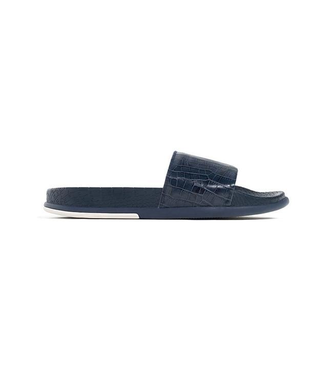 Zara Embossed Slides