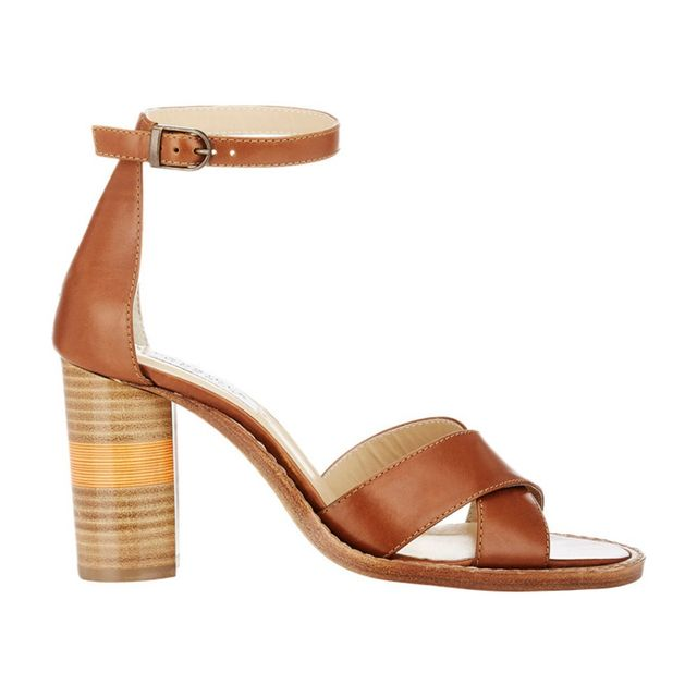 Gabriela Hearst Leather John Ankle-Strap Sandals