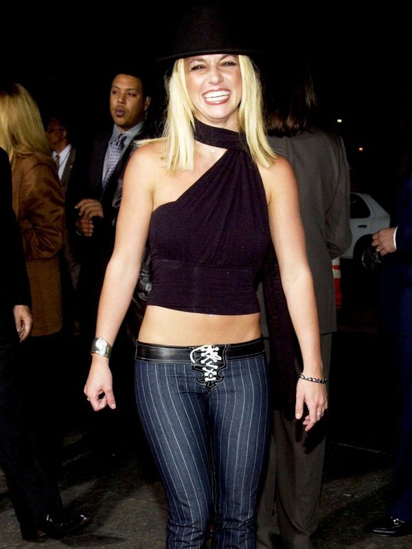 2000s fashion: Britney Spears on the red carpet in 2002