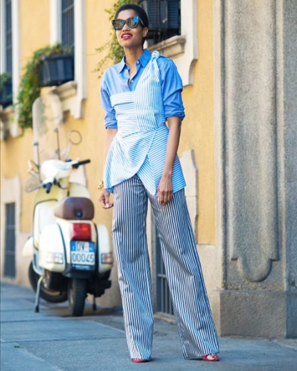 Style Notes: You can get extra mileage out of summery shoulder-baring tops; just start layering them over shirts when the centigrade drops.
